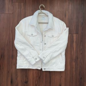 White corduroy jacket!